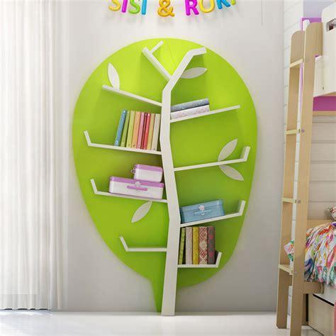meuble bibliotheque de rangement forme arbre chambre enfant