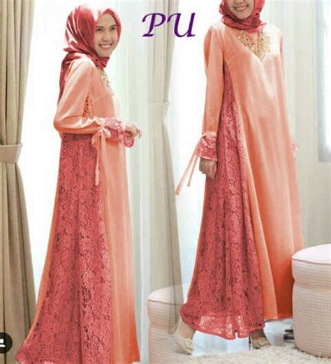 Busana Brukat jual baju brukat cantik gamis muslimah terbaru baju
