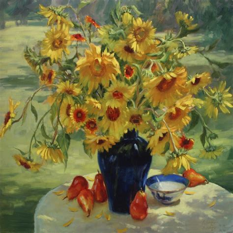 best painting free shipping handpainted paintings sunflowers