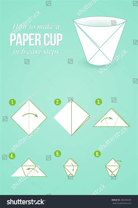 origami vector tutorial origami tutorial 194 make a paper cup in 6 easy steps with