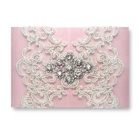 high end byzantinism lace wedding invitations