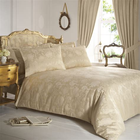 gold bedding sets vantona damask duvet cover sets gold