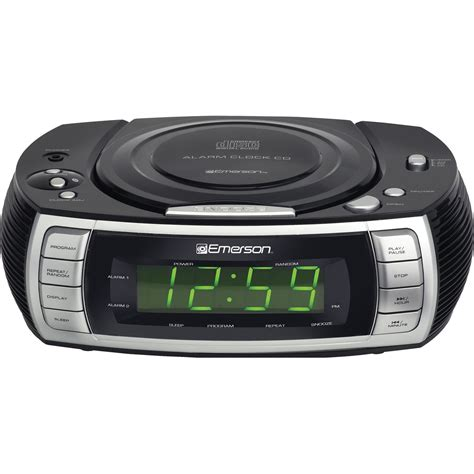 emerson ckd amfm cd dual alarm clock radio