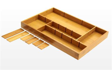 Drawer Inserts by Bamboo Adjustable Drawer Inserts Organiser Kitchen Cutlery
