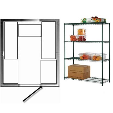 walk in cooler shelving focus foodservice kit walk in cooler and freezer shelving for 8 ft x 10 ft nor lake and 7 ft