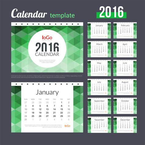creative calendar 2016 template vector 04 vector