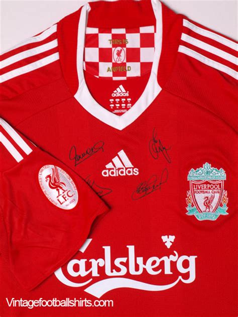 tshirt liverpool edition 2008 10 liverpool limited edition signed home shirt mint