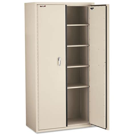fireproof storage cabinet fireproof storage cabinet has two sliding doors three shelves and a high security modeco key