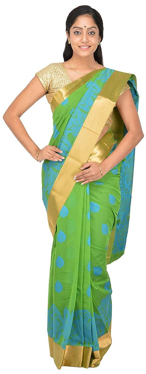 pothys silk sarees pothys women s silk cotton saree pds569 green colour