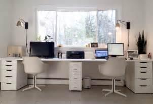 Ikea Hack Double Desk by Ikea Hacked Faux Built Ins Double Desk Love The Sun
