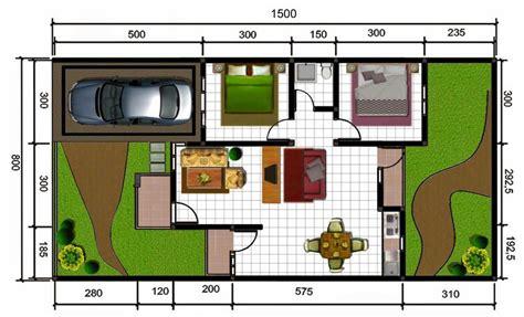 desain sketsa denah rumah minimalis type 45 dan 90