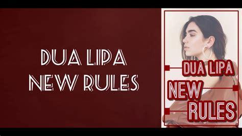 dua lipa be the one lirik lirik lagu new rules dua lipa youtube
