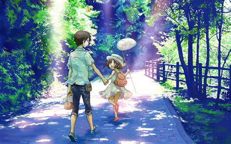 wallpaper of girl and boy together cute anime kids girl boy wallpaper dreamlovewallpapers