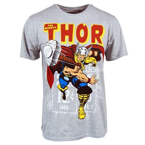 Thor Tsirt mens marvel thor hammer throw t shirt grey