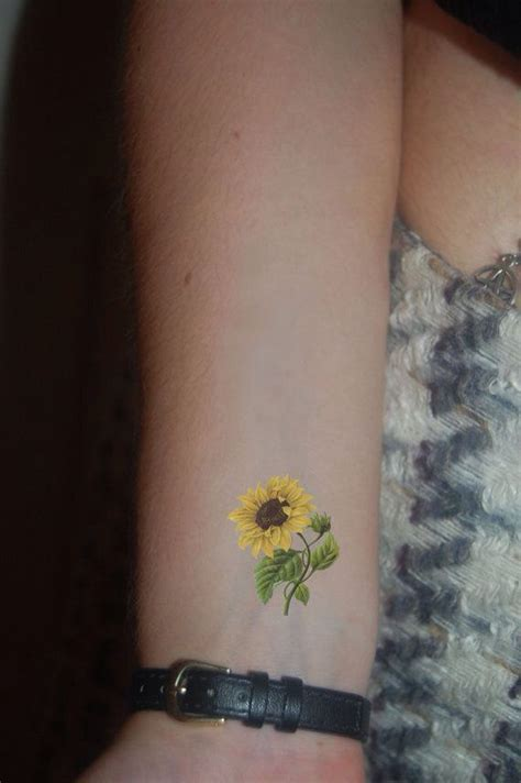 sunflower wrist tattoos best 25 sunflower small ideas on