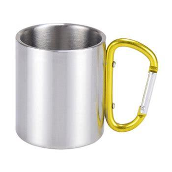 Gelas Carabiner Wall Cangkir Stainless Mug Travel 220ml 300ml stainless steel mug with carabiner stainless steel travel mug wall carabiner
