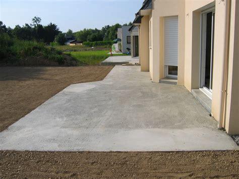 terrasse beton couler une dalle terrasse b 233 ton bricobistro