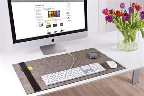 felt desk mat is like a cosy rug for wrists cult of mac