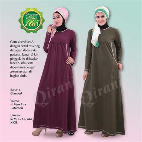 Qirani Dress 02 L Xl qirani dewasa model 168 softaya pusat baju