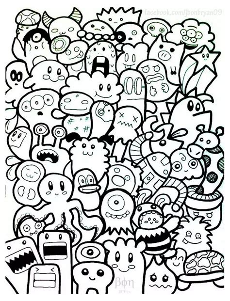 a doodle for free doodle coloring pages colouring detailed advanced