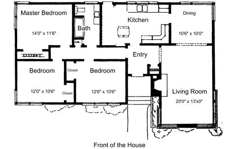 Free Floor Plans For Small Houses Small House Plans Free House Plans One Bedroom