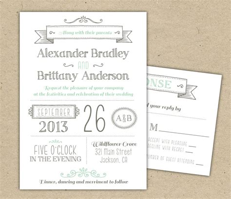 Wedding Invitation 1041 Sample Modern Invitation Template Wedding Invitation Design Templates Free