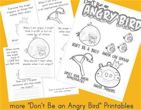 angry birds anger management worksheets teaching activities and for kids on pinterest