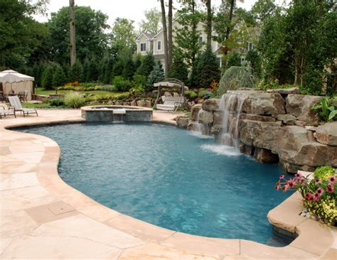 Pool Designs Custom Swimming Pools Landscaping By Cipriano Backyard With Pool Designs