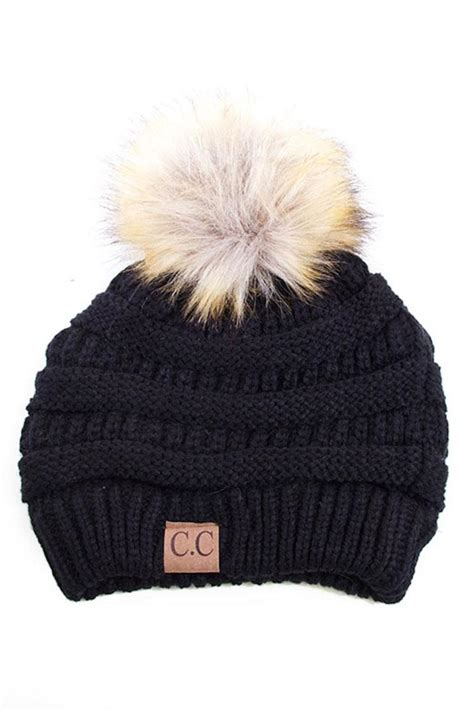 Home Decor Minneapolis by C C Beanie Pom Pom Fur Beanie From Minneapolis By