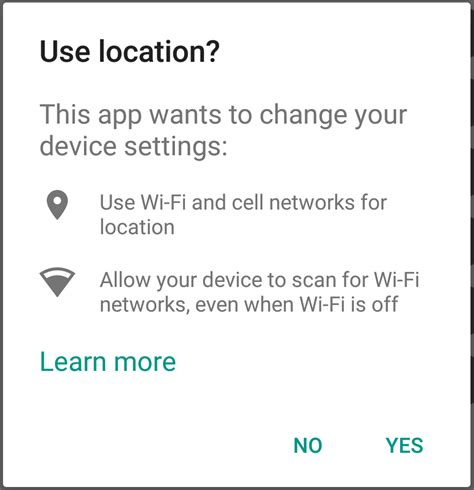 how to turn on location services on android android play services turn on location without wifi scanning stack overflow