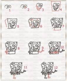 How to draw spongebob step by step
