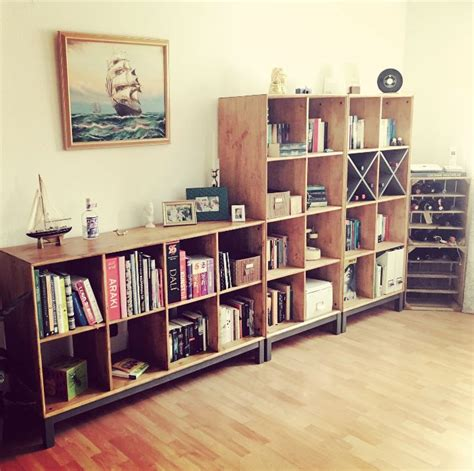 nornas bookcase hack norn 196 s ikea kiefer regale lasur in teak home