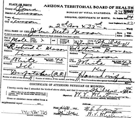 Marriage License Arizona Records Pima County Marriage License Copy Dagordowntown