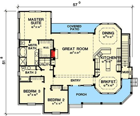 great ranch house plan 31075d architectural