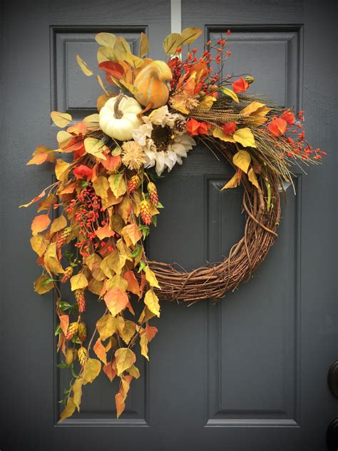Decorative Wreaths For The Home | fall wreaths fall door wreaths wreaths for fall fall decor