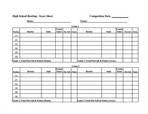 Bowling Recap Sheet Template by Bowling Score Sheet Excel Templates Basketball Scores