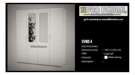 Hawaii Pro Design Lemari Pakaian 4 Pintu Minimalis lemari 4 pintu putih svwd 4 svan pro design new sa e