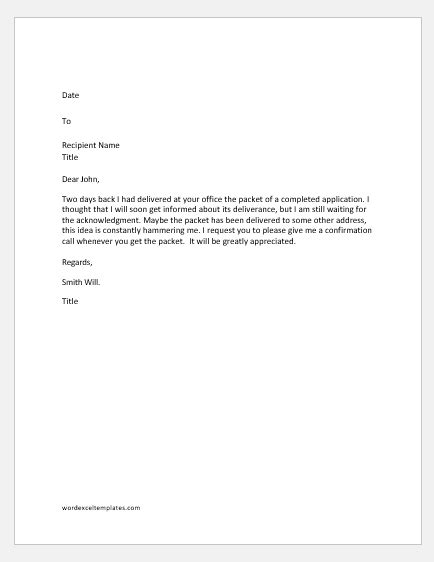confirmation of receipt email template letters requesting confirmation receipt of a document