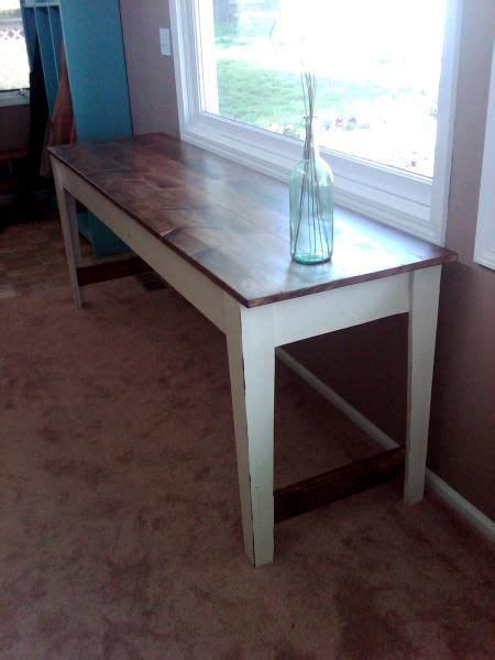 narrow farmhouse table diy  build pinterest power