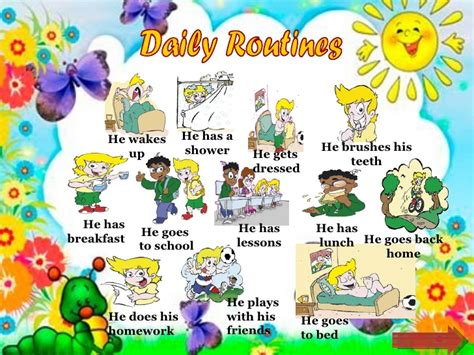 imagenes english day daily routine