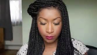 can i get box braids if i hair how i style my box braids youtube