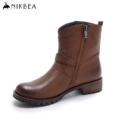 buy boots for aliexpress buy nikbea ankle boots for flat