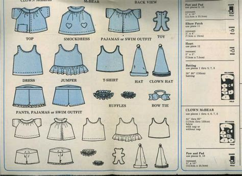 t shirt pattern for a teddy bear teddy bearclothes patterns free uncut mccalls 2629