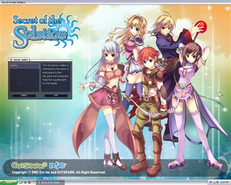anime game outspark games secret of the solstice free online game