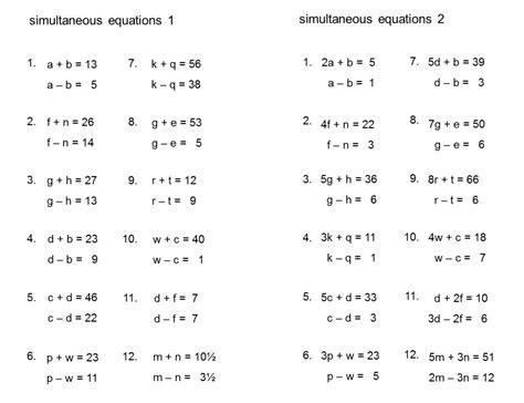 simultaneous equations caribbean tutors