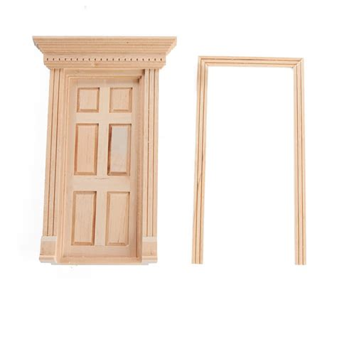 unfinished wooden doll house dollhouse miniature unfinished wood 6 panel door what s new craft supplies