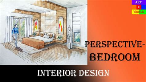 14 manual rendering 2 point interior perspective