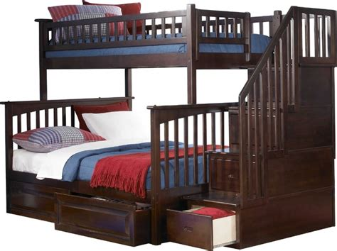 solid wood bunk beds twin over full solid wood twin over full bunk bed in antique walnut finish modern bunk beds