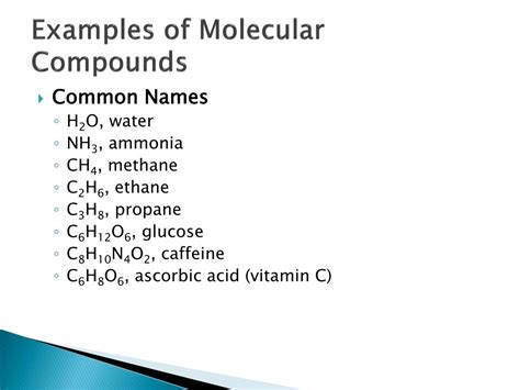 molecular compounds powerpoint
