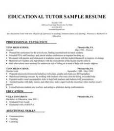 sle resume for tutor